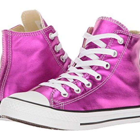 Converse Chuck Taylors High Top Sneakers Magenta. NWT 5176bf578